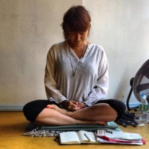 meditating before class, 2013(photo by John O'Connor)