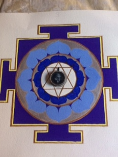 Yantra with picture of Swami Muktananda